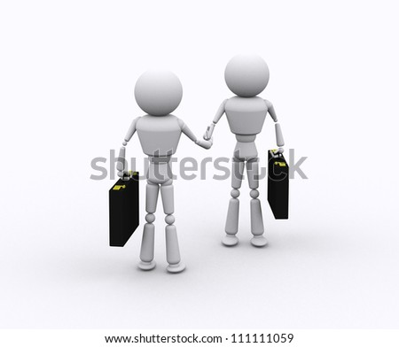 Trading concept with person on white background.