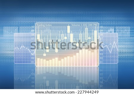 Trading index - stock photo