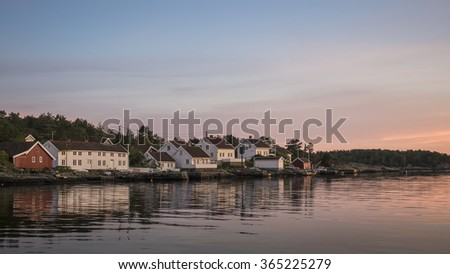 Tradional coastal community outside Arendal, Norway
