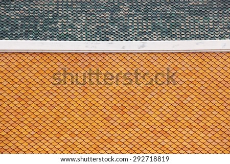 tradition temple roof tile - stock photo