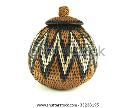 Traditional African Basket - stock photo
