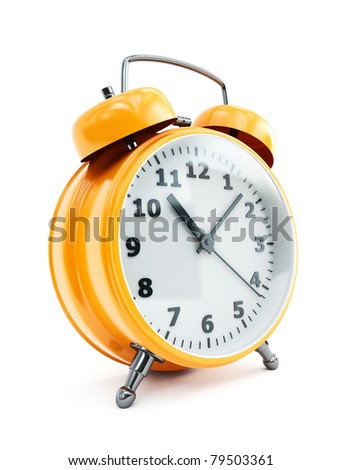 traditional alarm clock - stock photo
