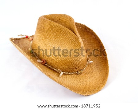 Traditional American cowboy hat - stock photo