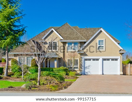 Traditional american house stock images royalty free for Traditional american home