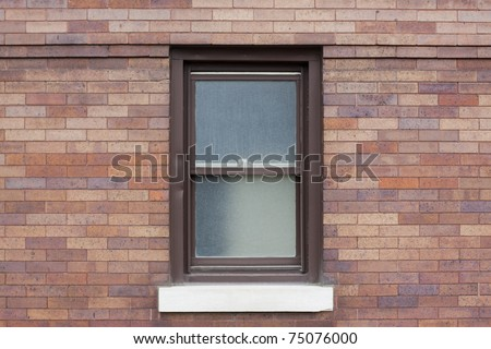 Traditional american window with metal frame - stock photo