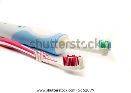 Traditional and modern toothbrush