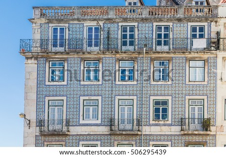 Traditional Apartment Homes in Lisbon with Tile Exteriors