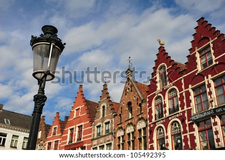 Traditional architecture in Brugge,Belgium - stock photo