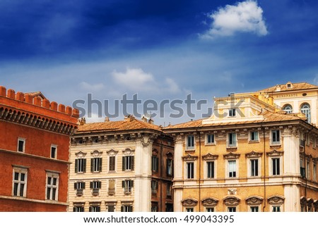 Traditional architecture in Rome, Italy