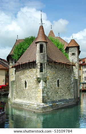 Traditional architecture of Annesy, France - stock photo