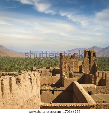Traditional architecture of Morocco, Africa. - stock photo