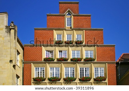 Traditional architecture of Munster, Germany - stock photo