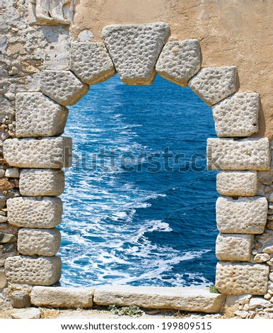 Traditional architecture on Mykonos island, Greece - stock photo