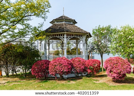 Traditional architecture pavilion in Chinese garden