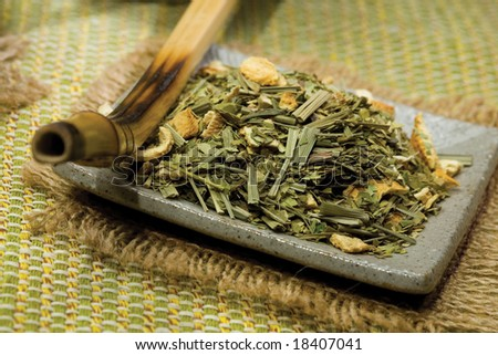traditional Argentinean tea - stock photo