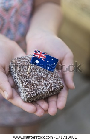 traditional Australian food for Australia Day - stock photo