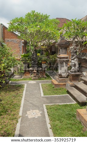 traditional Balinese architecture, details, elements. Indonesia, Ubud