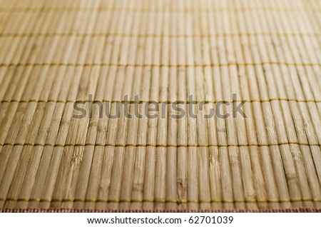 Traditional bamboo pad texture