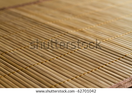 Traditional bamboo pad texture - stock photo