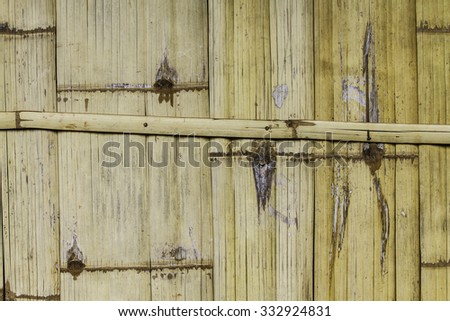 Traditional bamboo pad texture background - stock photo