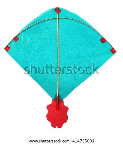 Traditional Bangladeshi kite made of thin papers - stock photo
