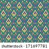 Traditional batik sarong pattern background - stock photo