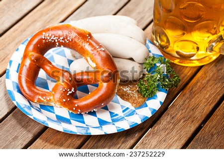 traditional bavarian food - stock photo
