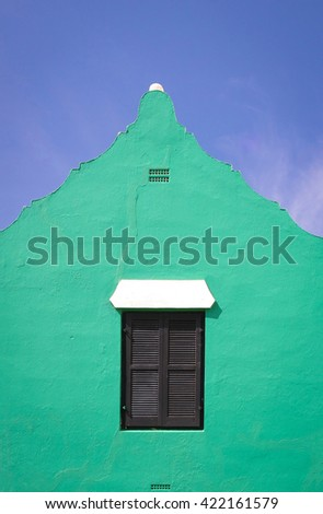 Traditional Bermuda architecture of a residential home. - stock photo