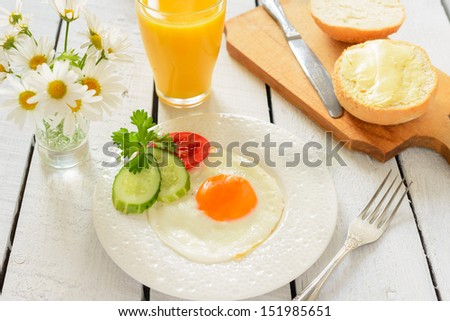 Traditional breakfast - stock photo