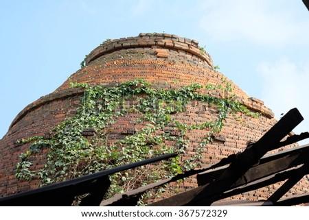 Traditional brick oven (brick kiln) in Sadec, Dong Thap province, Vietnam