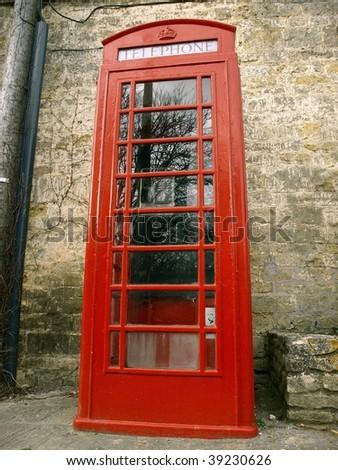 Traditional British Telephone Box - stock photo
