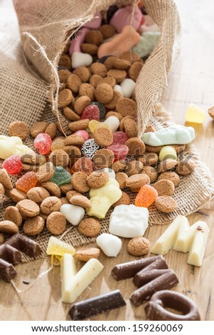 Traditional candy which is used for Sinterklaas in december - stock photo