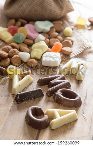 Traditional candy which is used for Sinterklaas in december