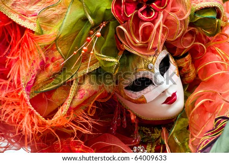 Traditional carnival mask at Annecy festival, France - stock photo