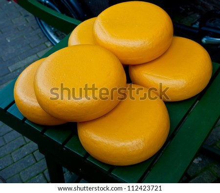 Traditional cheese round in Holland - stock photo
