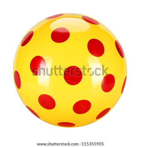 Traditional children's games. Air-filled, elastic ball, decorative, fun colors. - stock photo