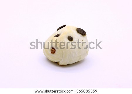 Traditional Chinese pastry Animal shapes, Panda cake on white background