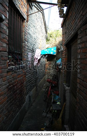 Traditional Chinese small alley