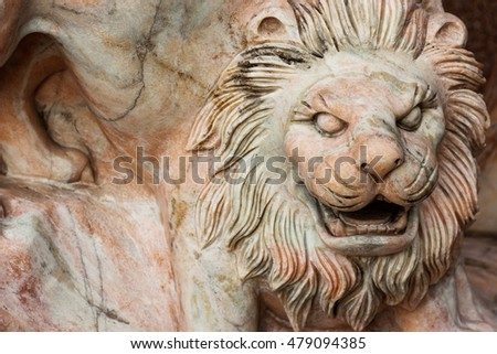 Traditional Chinese Stone Lion Statues