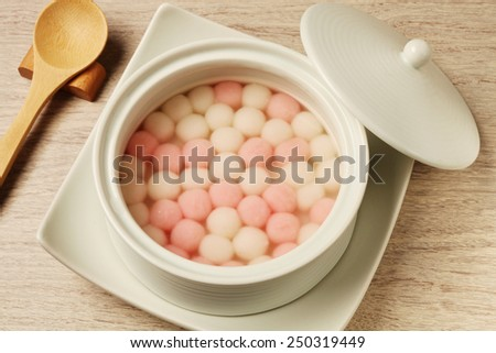 Traditional chinese sweet rice ball - stock photo