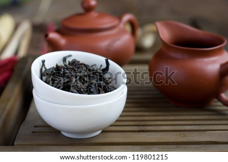 Traditional chinese tea ceremony - stock photo