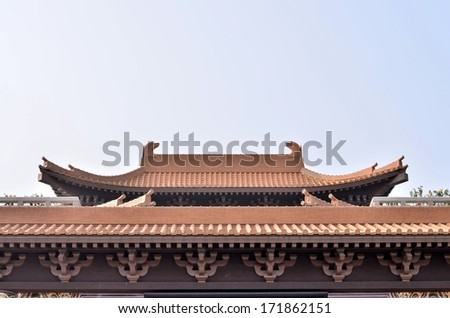Traditional Chinese temple - stock photo