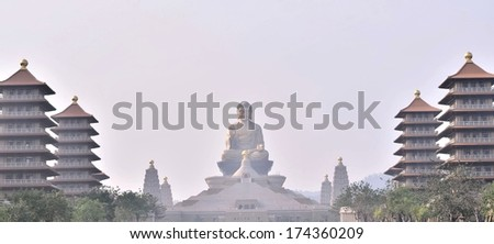 Traditional Chinese temple building  - stock photo