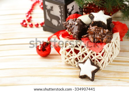 Traditional Christmas cookies for gift and dessert