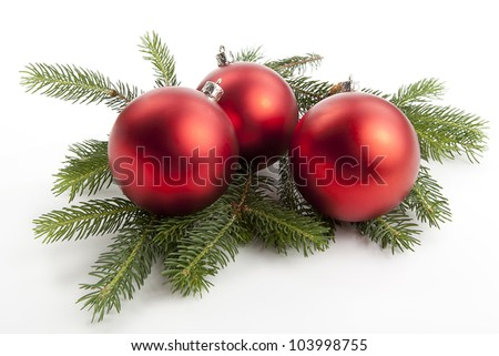traditional christmas tree decoration isolated on white background - stock photo