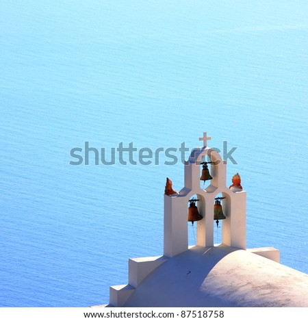 traditional church bell at Santorini, Greece
