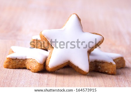 Traditional cinnamon cookies  - stock photo