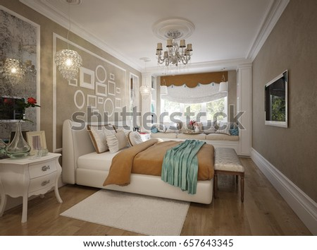 Bedroom With White Furniture traditional classic modern provence bedroom interior stock