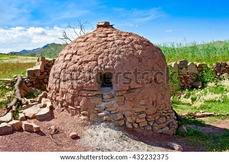 Traditional clay oven in the village of Bolivia, South America