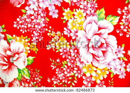 Traditional cloth pattern - stock photo